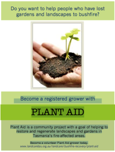 Plant Aid: Helping in the bushfire recovery